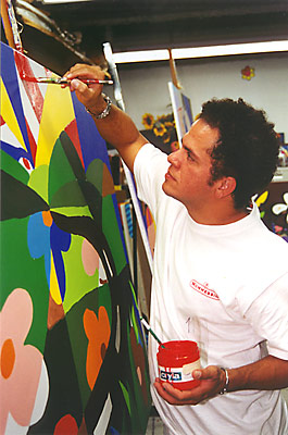 R.Britto in seinem Studio in Miami