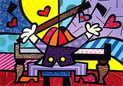 Romero Britto 'Piano Man'
